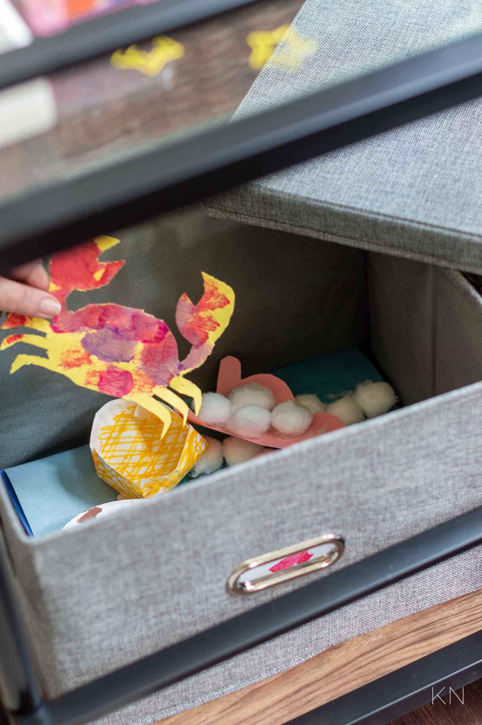 How to Organize Kids Art Supplies & Organization Ideas with Bar Carts
