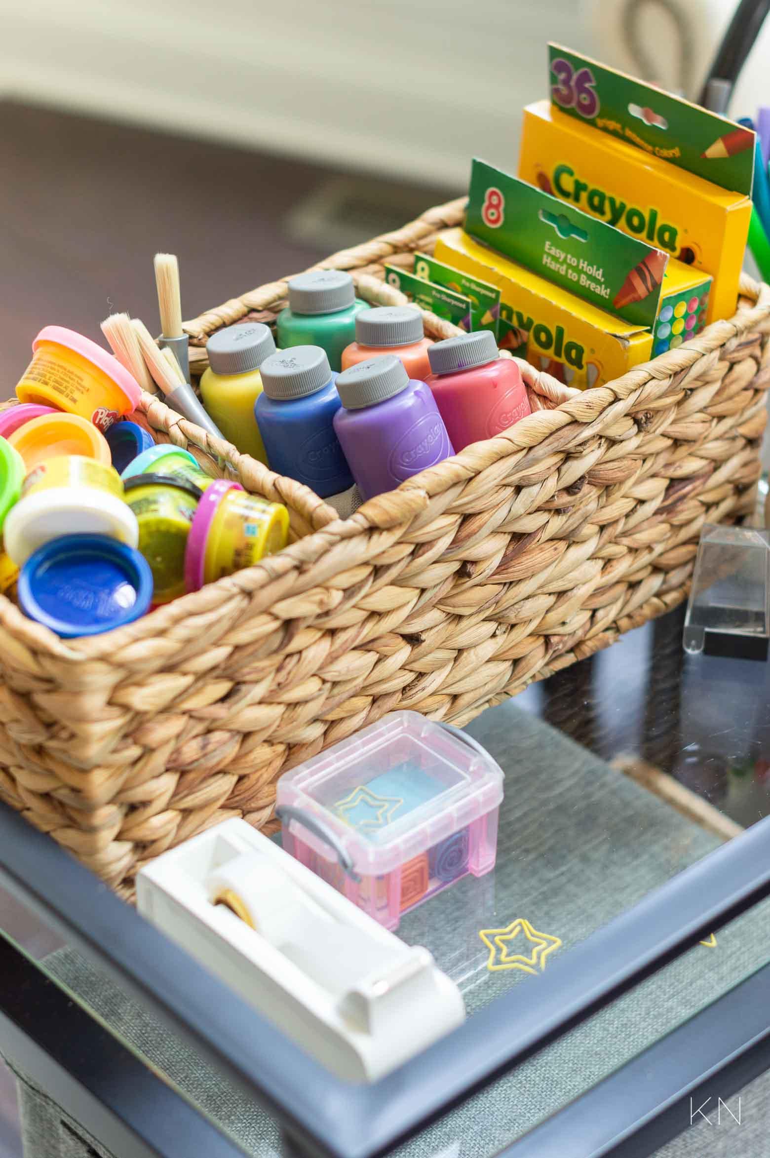 Kids Art Storage and Organization Ideas (Using a Multipurpose Bar Cart!)
