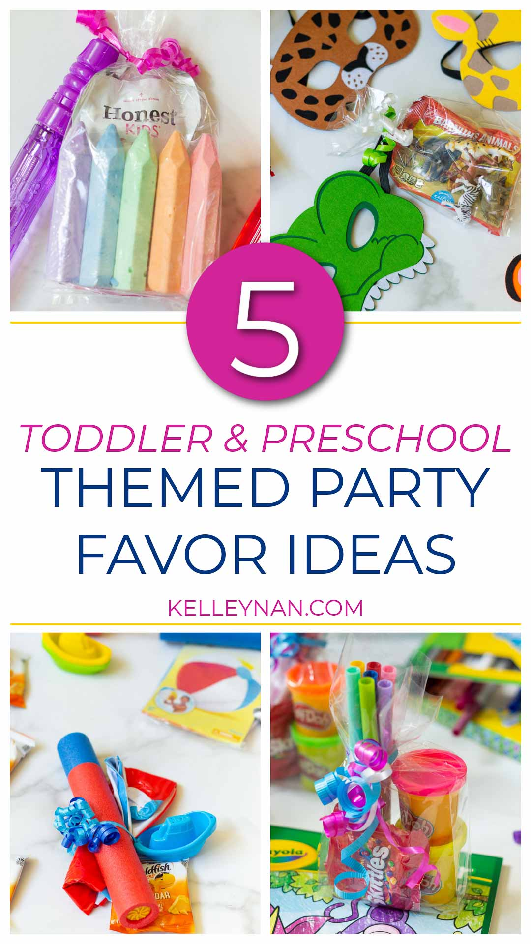 5 Easy, Inexpensive Themed Party Favor Ideas for Toddlers and PreSchoolers
