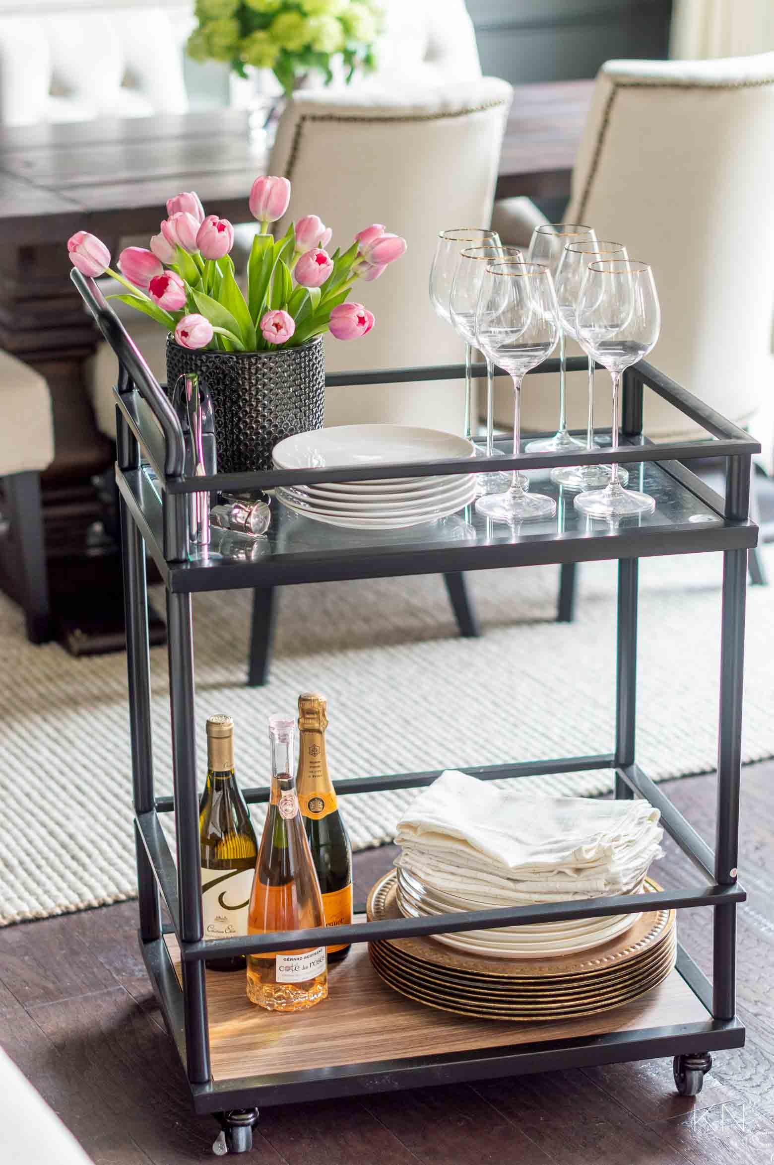 Ways to Use a Bar Cart Around the House -- the Most Versatile Home Furnishing Ever!