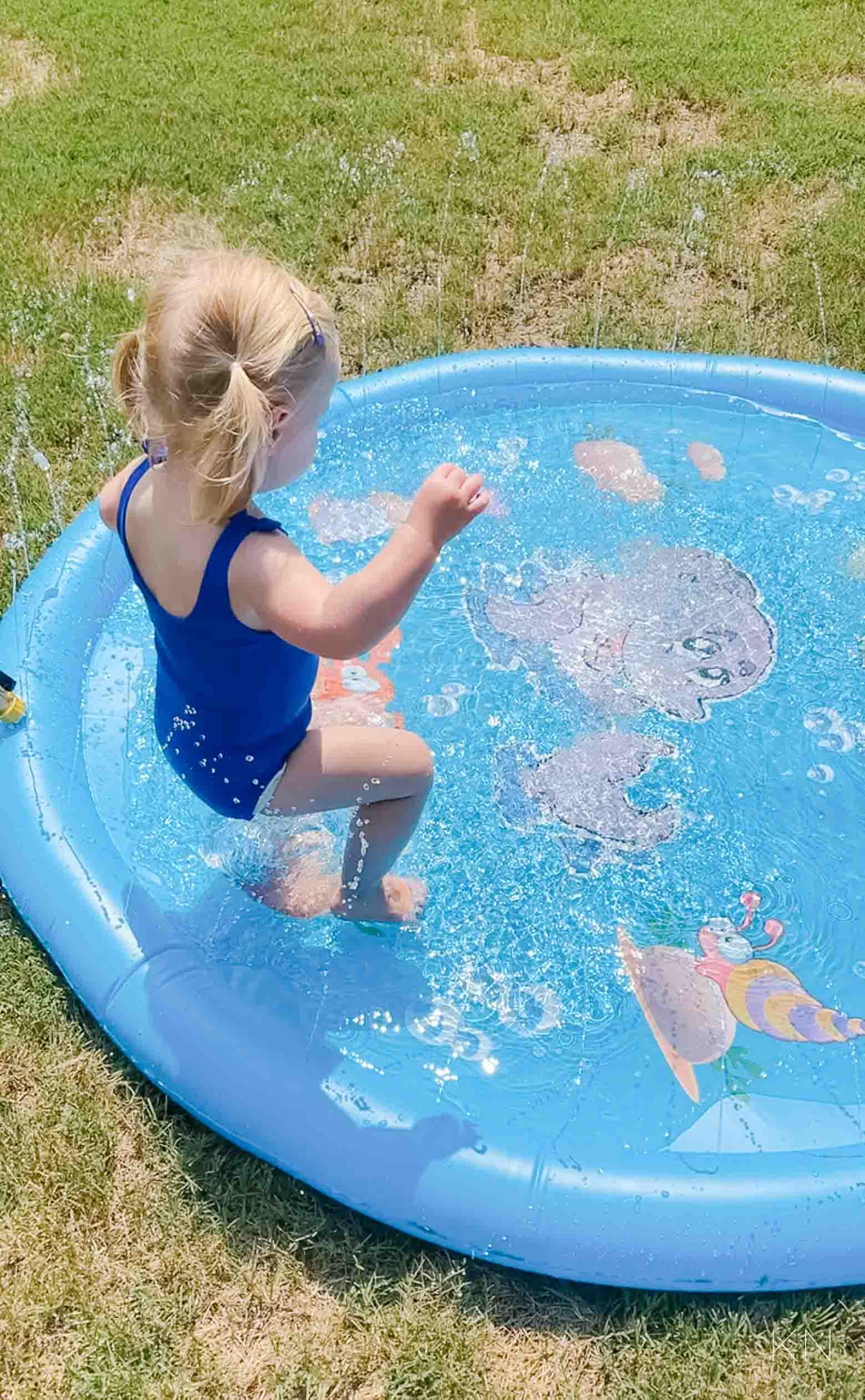 Amazon Splash Pad- Awesome Toddler Summer Activity
