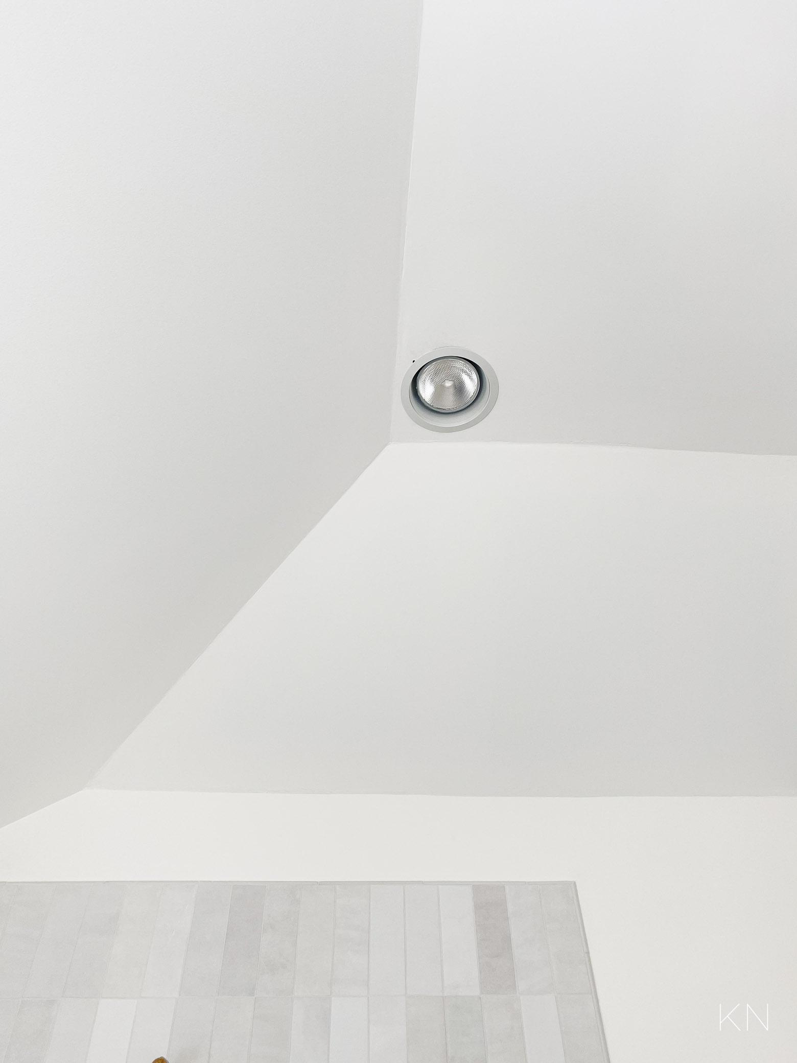 master bathroom progress -- light above shower