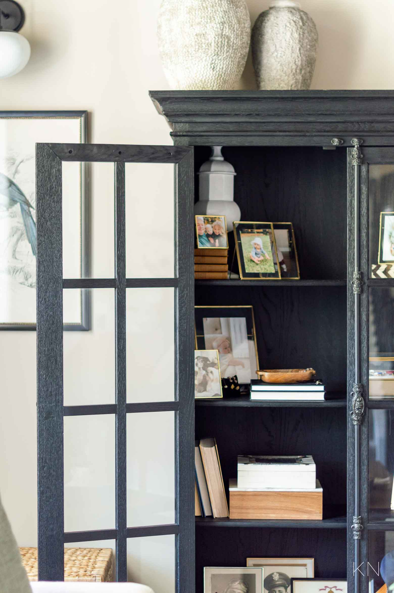 Using Family Special Heirlooms in Decor and How to Style Them in a Glass Door Cabinet