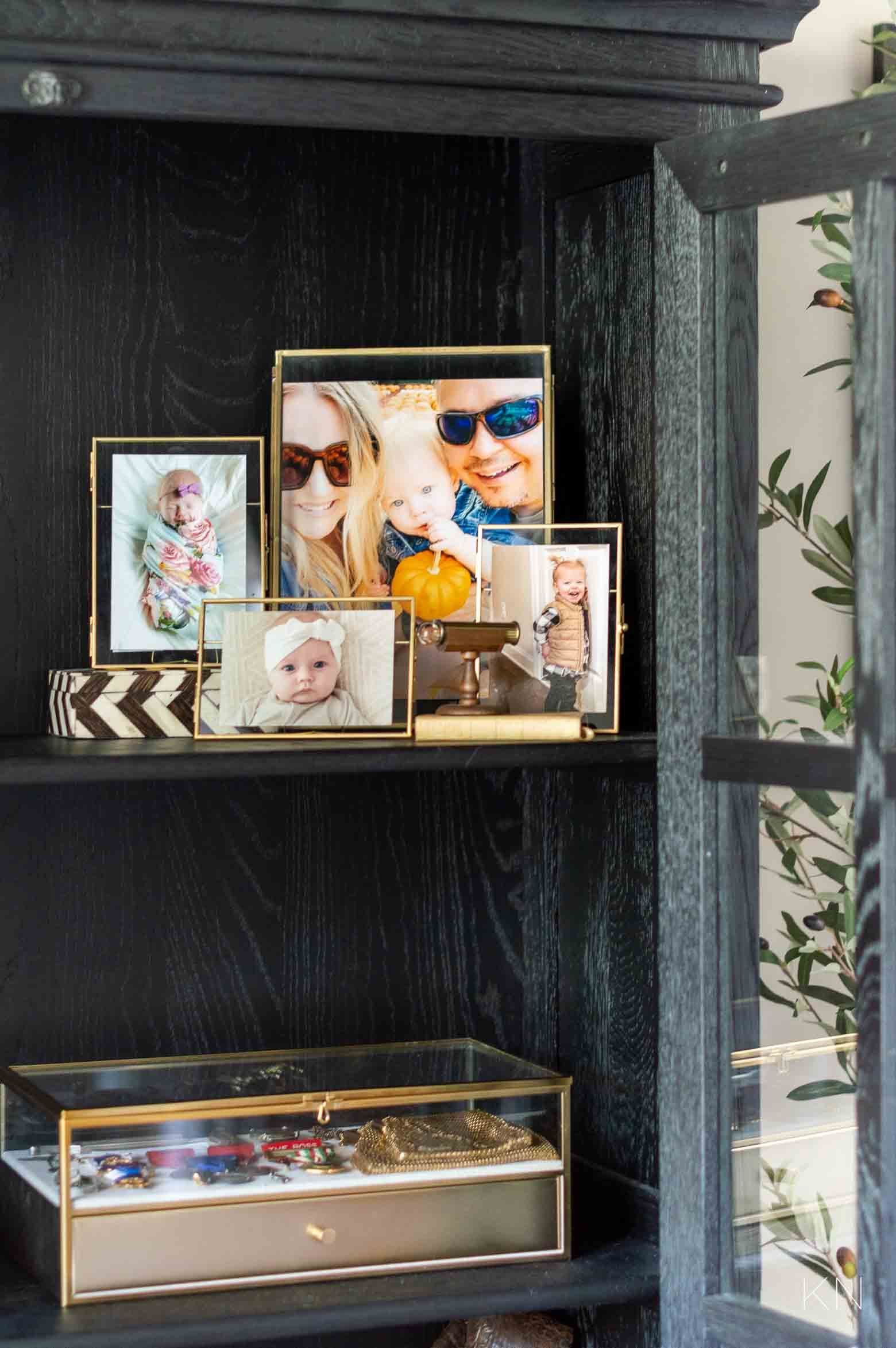 How to Style a Glass Door Cabinet with Special and Sentimental Items