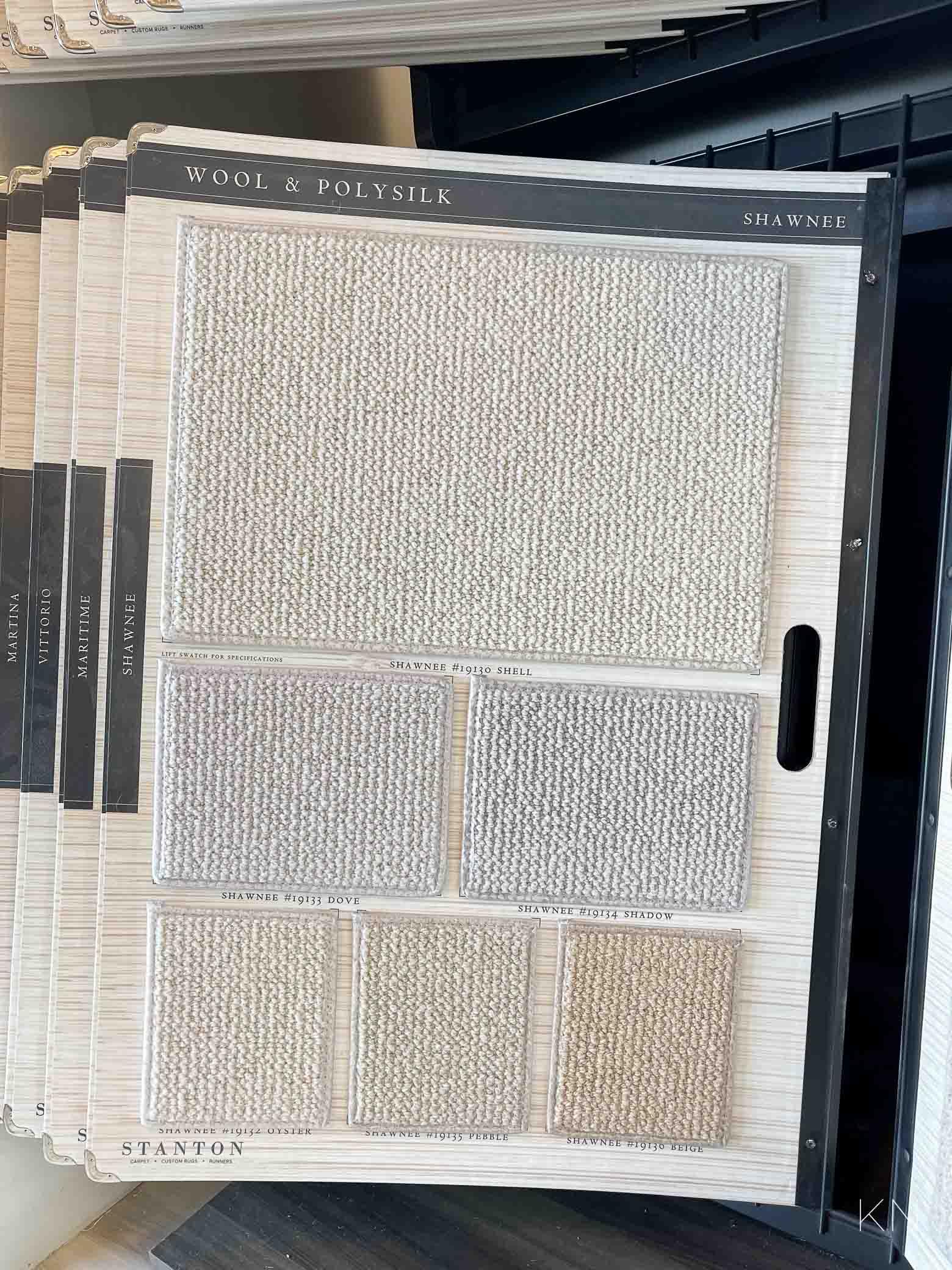 master closet carpet selection