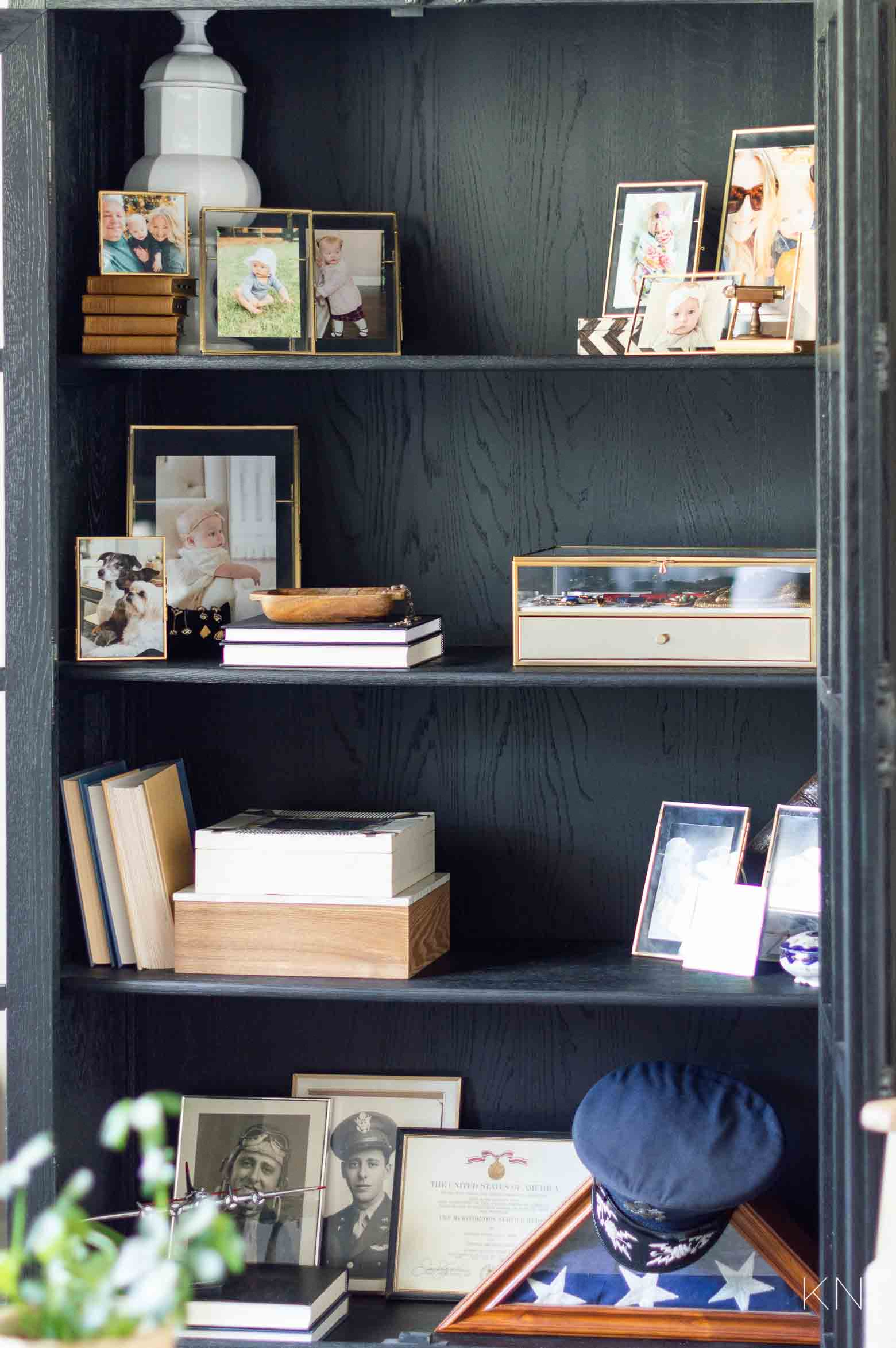 How to Style Shelves in a Glass Door Cabinet