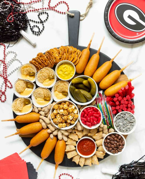 Tailgate Football Charcuterie Board for Game Day