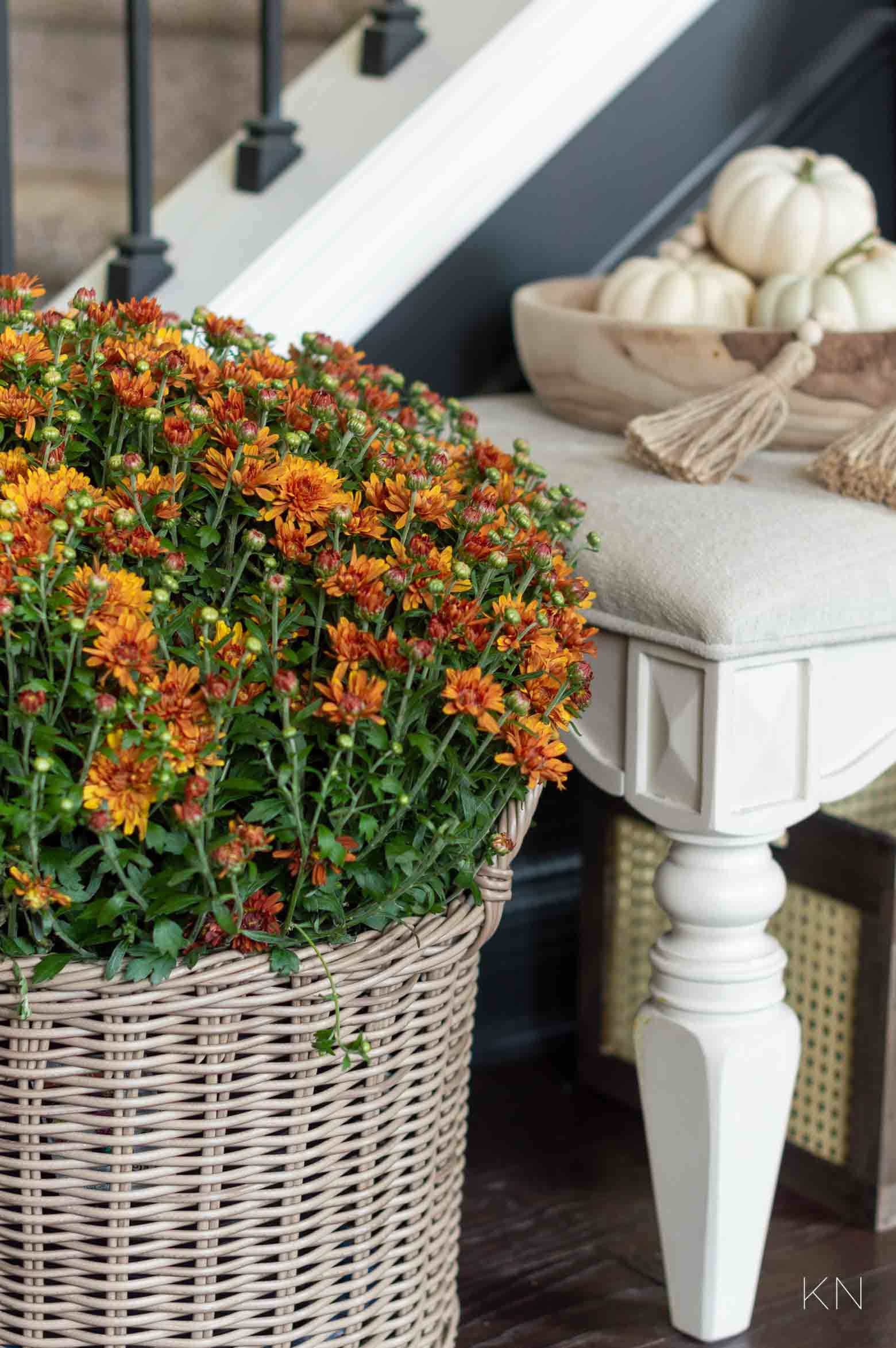 Fall Home Decorating Ideas in the Entry