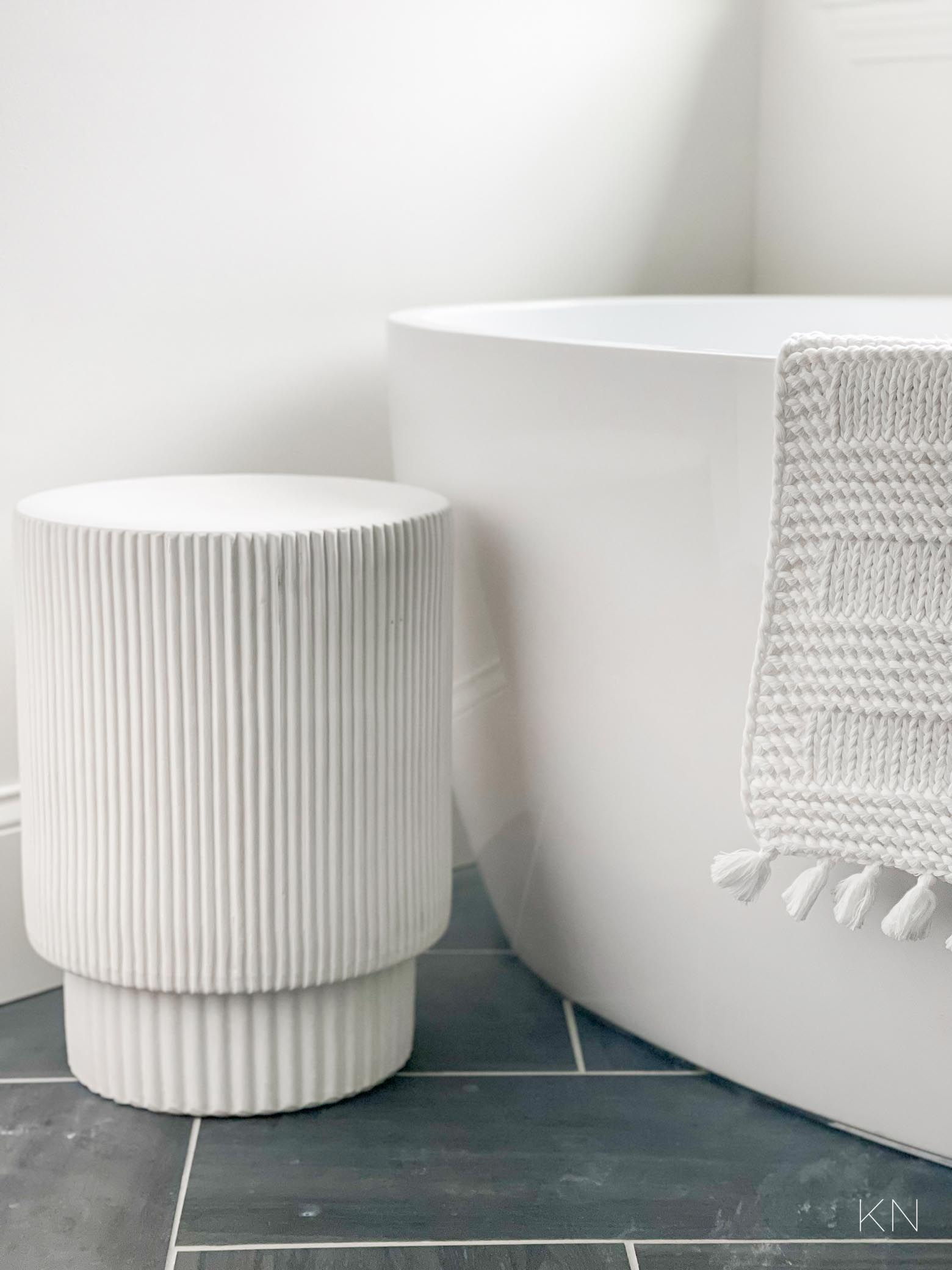 20 Best Small Accent Tables for Bathrooms Beside Tubs & Around the House