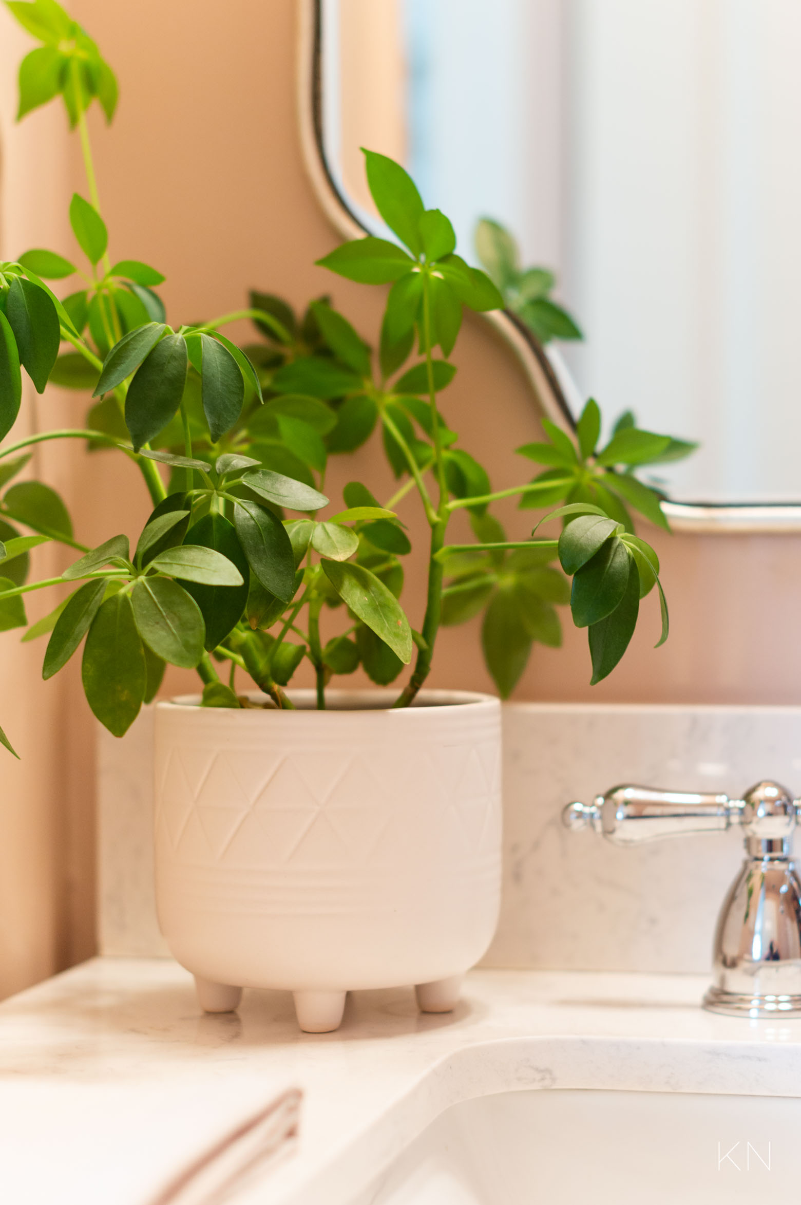Small Pink Bathroom Decor and Accessories -- Remodel and Makeover Reveal