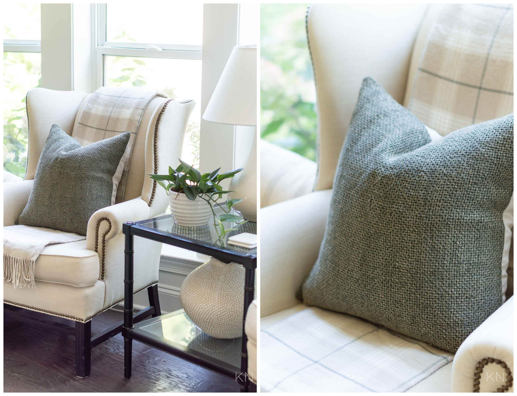 Styling a Sitting Area in the Living Room for Fall