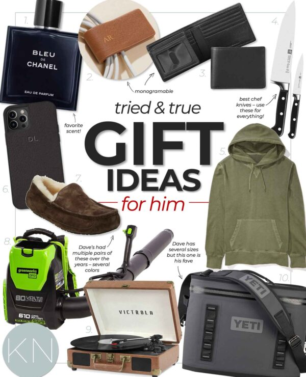 Christmas Gift Ideas for Him -- Husband, Dad, Brother and Men