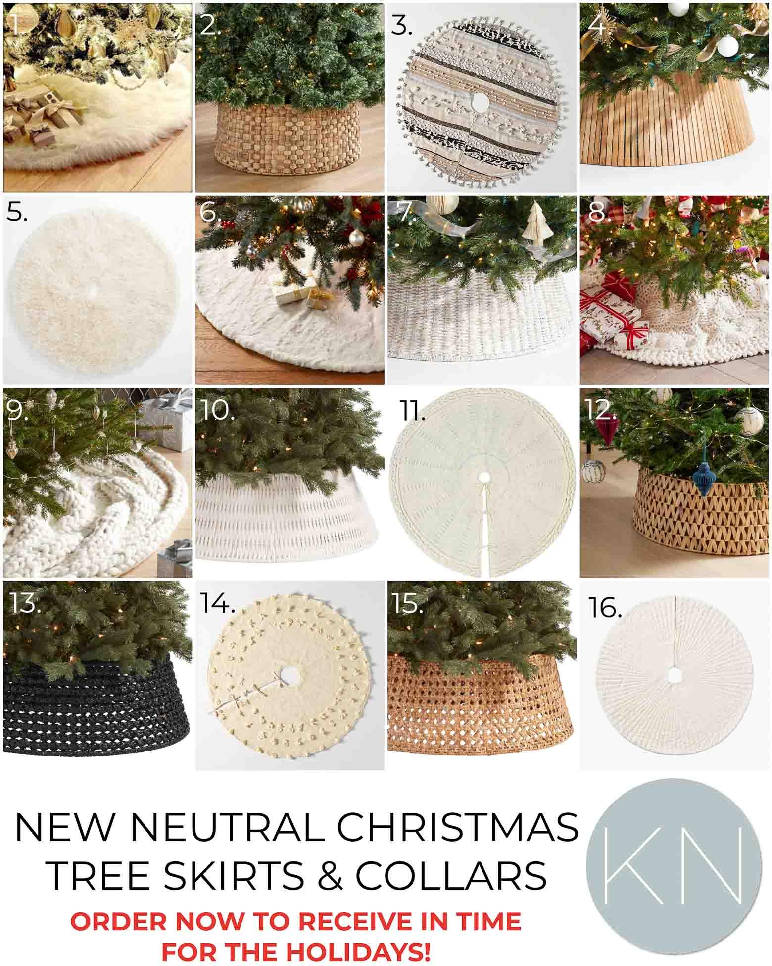 New Christmas Tree Skirts and Christmas Tree Collars for 2021