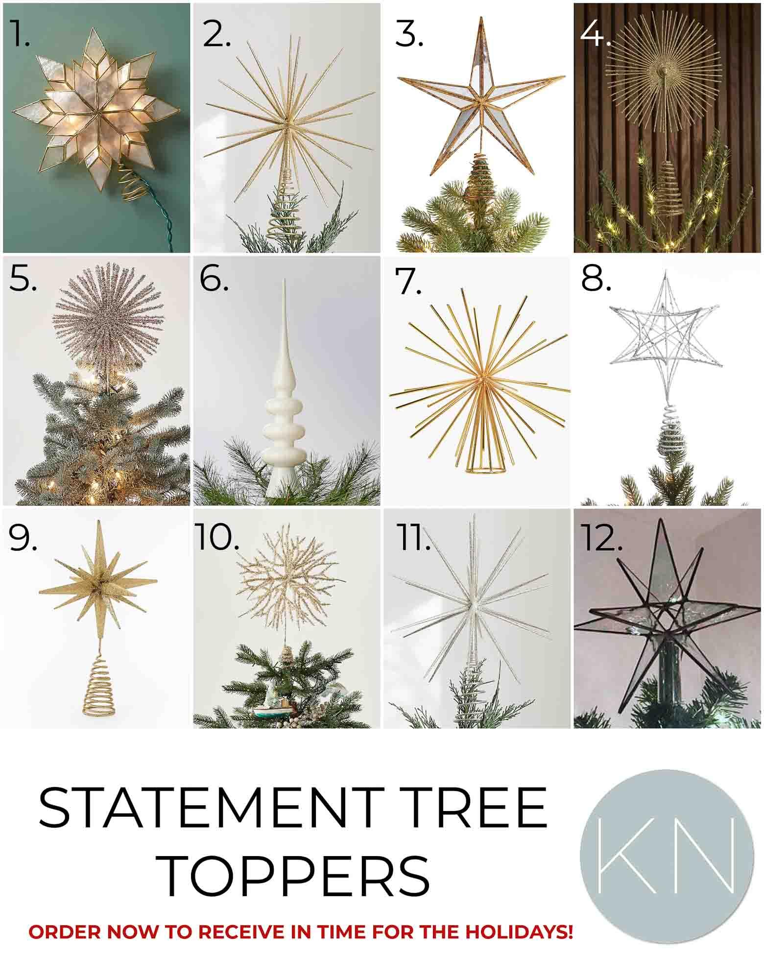 2021 Christmas Decor -- Favorite Christmas Tree Toppers