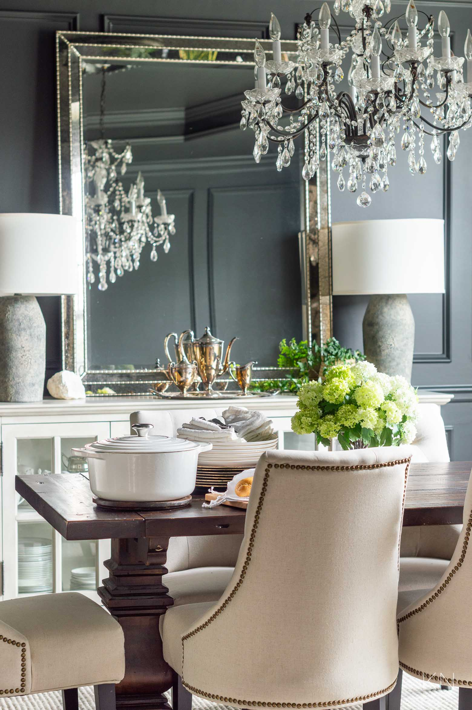 Dining Room Styled with Favorite Cookware
