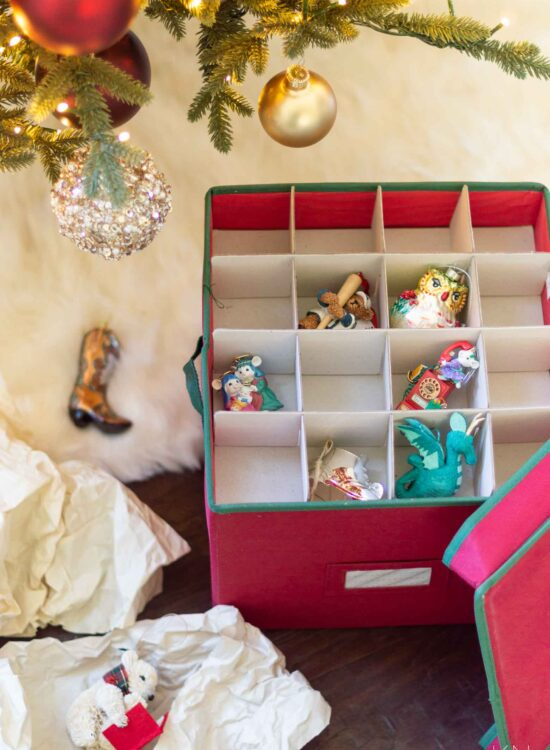 Christmas Ornament Storage and Other Organization Ideas