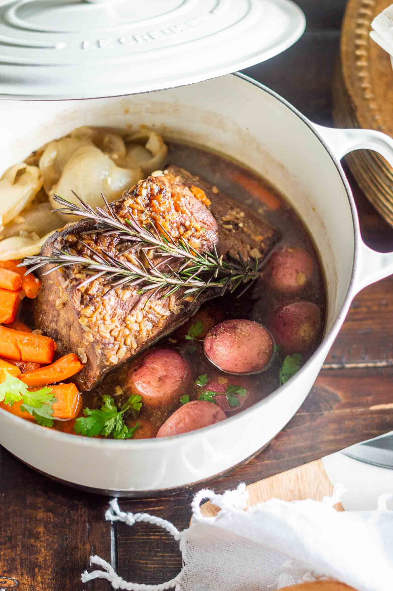 Easy Traditional Pot Roast Recipe in a Dutch Oven