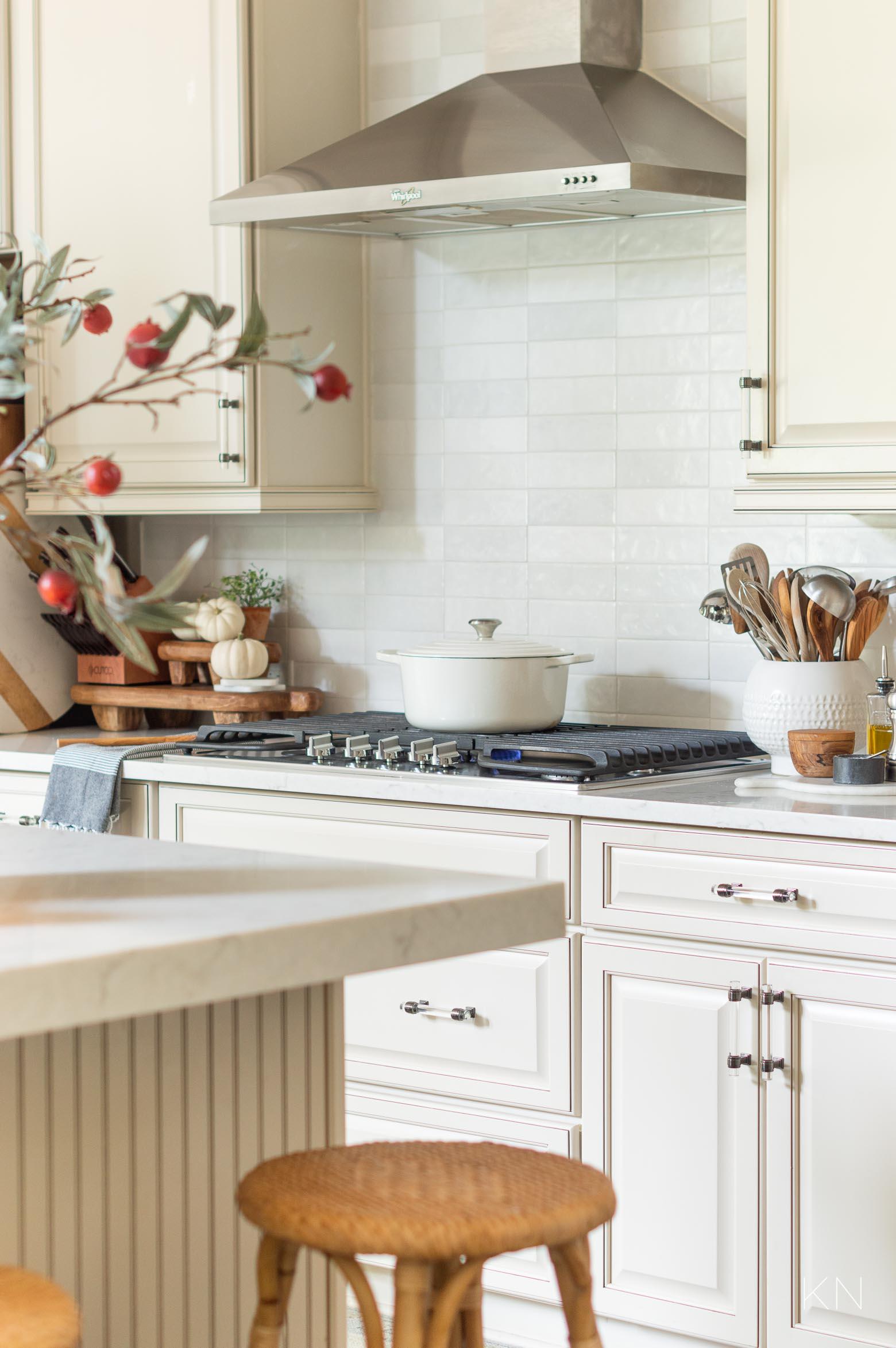 Cream and White Fall Kitchen Decor