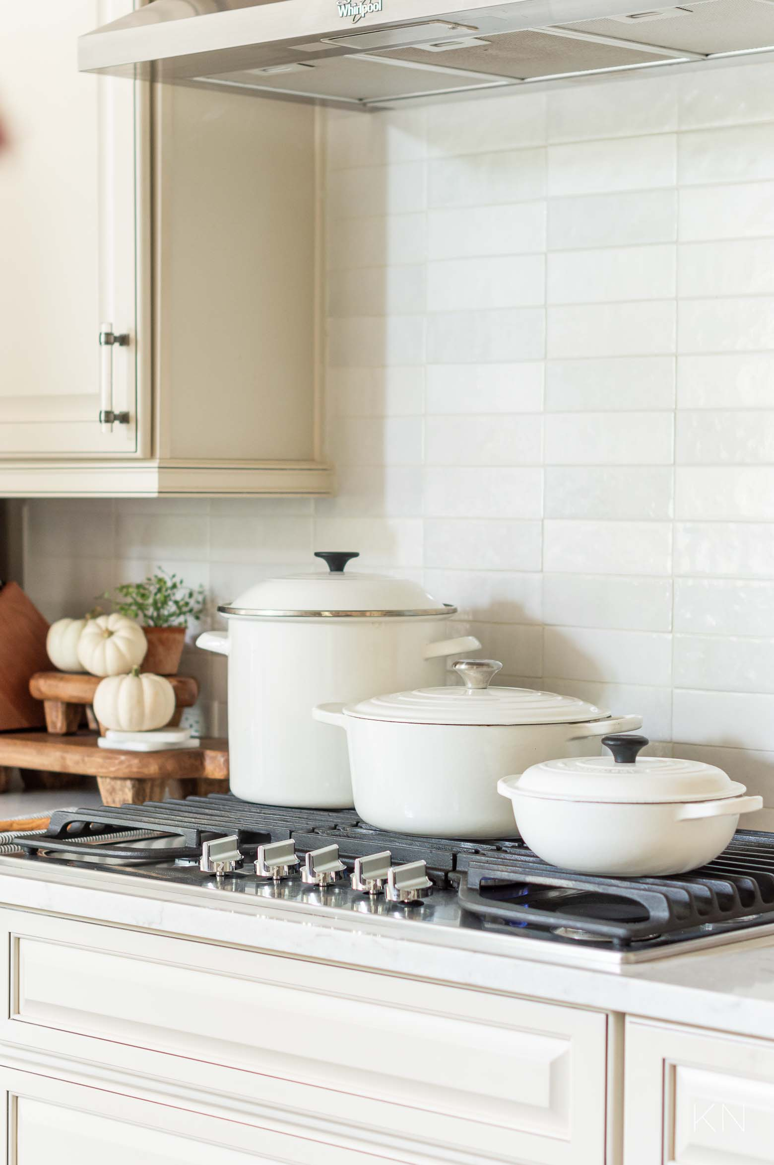 Le Creuset Styled in a Neutral Kitchen
